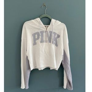 PINK Victoria's Secret; White and Grey Hoodie